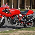 Ducati only in Red by Tom McDonnell