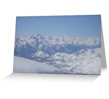 Mountains in Switzerland Greeting Card