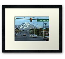 """""""There Goes Sarah"""" Framed Print"""