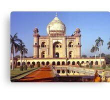 Safdarjung's Tomb, New Delhi, india. Canvas Print