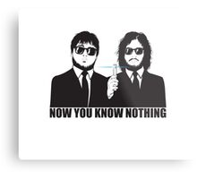 NOW YOU KNOW NOTHING Metal Print
