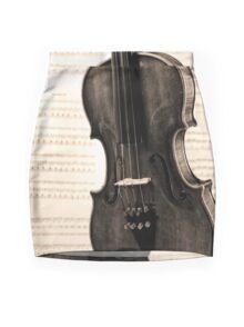 The old Violin Mini Skirt