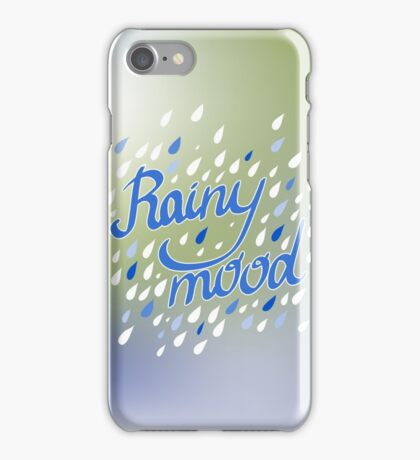 Rainy Day Pattern. Abstract background. Nature pattern for fabric iPhone Case/Skin