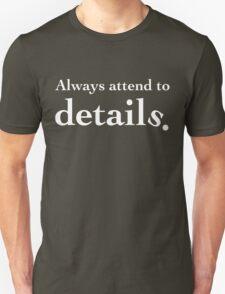 Details - White Lettering, Funny T-Shirt