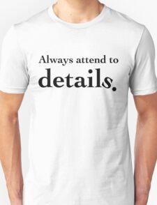 Details - Black Lettering, Funny Unisex T-Shirt