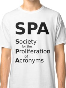 SPA - Black Lettering, Funny Classic T-Shirt