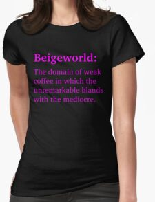 Beigeworld - Magenta Lettering, Funny T-Shirt