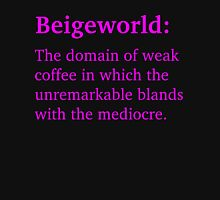 Beigeworld - Magenta Lettering, Funny Womens Fitted T-Shirt