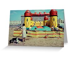 Bouncy castle Greeting Card