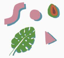 Leaf, Papaya, Shapes Kids Tee
