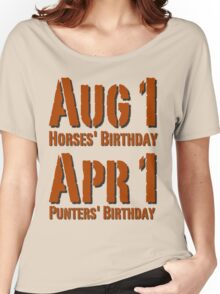 Punters' Birthday - Brown Lettering, Funny Women's Relaxed Fit T-Shirt