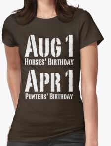 Punters' Birthday - White Lettering, Funny T-Shirt