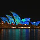 Opera House illuminated by Dean Perkins
