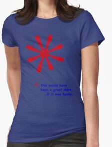 Footnote - Red & Blue Lettering, Funny T-Shirt