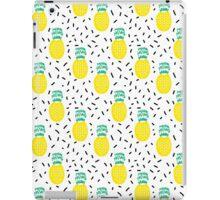 Pineapple fun modern minimal scandi design fresh fruit tropical island summer beach socal vegan iPad Case/Skin