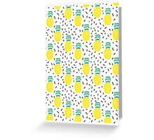 Pineapple fun modern minimal scandi design fresh fruit tropical island summer beach socal vegan Greeting Card