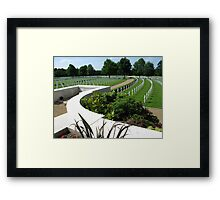 American WW2 Cemetery Cambridge, England Framed Print