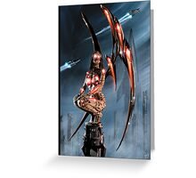 Robot Angel Painting 011 Greeting Card