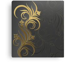 background with floral ornament Canvas Print