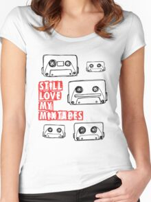 Still Love my Mixtapes Women's Fitted Scoop T-Shirt