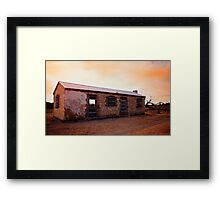 Perry's Bunk House - Western Australia Framed Print