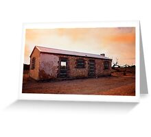 Perry's Bunk House - Western Australia Greeting Card