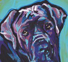 Neapolitan Mastiff Dog Bright colorful pop dog art by bentnotbroken11