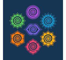 7 Chakras, Cosmic Energy Centers, Evolution, Meditation, Enlightenment Photographic Print