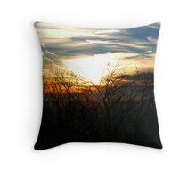 Sunset through the trees Throw Pillow