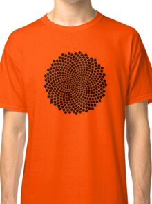 Sunflower Seed Fibonacci Spiral, Golden Ratio, Mathematics, Geometry Classic T-Shirt