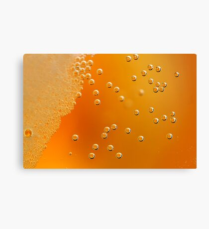 beer bubbles Canvas Print