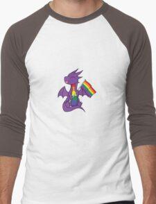 Baby Pride Dragons - Gay Men's Baseball ¾ T-Shirt