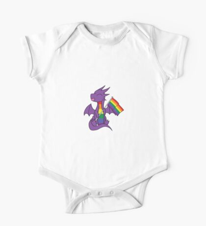 Baby Pride Dragons - Gay One Piece - Short Sleeve