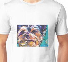 Yorkie Yorkshire Terrier Bright colorful pop dog art Unisex T-Shirt