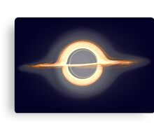 Black hole, Portal, Infinity, Universe, Outer Space, Star Canvas Print