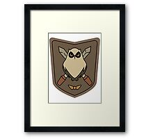 Sora No Woto Owl Crest Framed Print