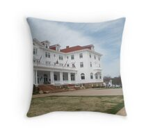 Stanley Hotel - Location of THE SHINING upclose and personal Throw Pillow