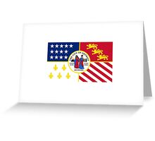 Detroit City Flag - Revival Pride Motor Car Bumper Sticker Shirt Greeting Card