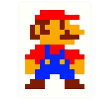 Super Mario Bros Pixel Art Print