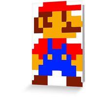 Super Mario Bros Pixel Greeting Card