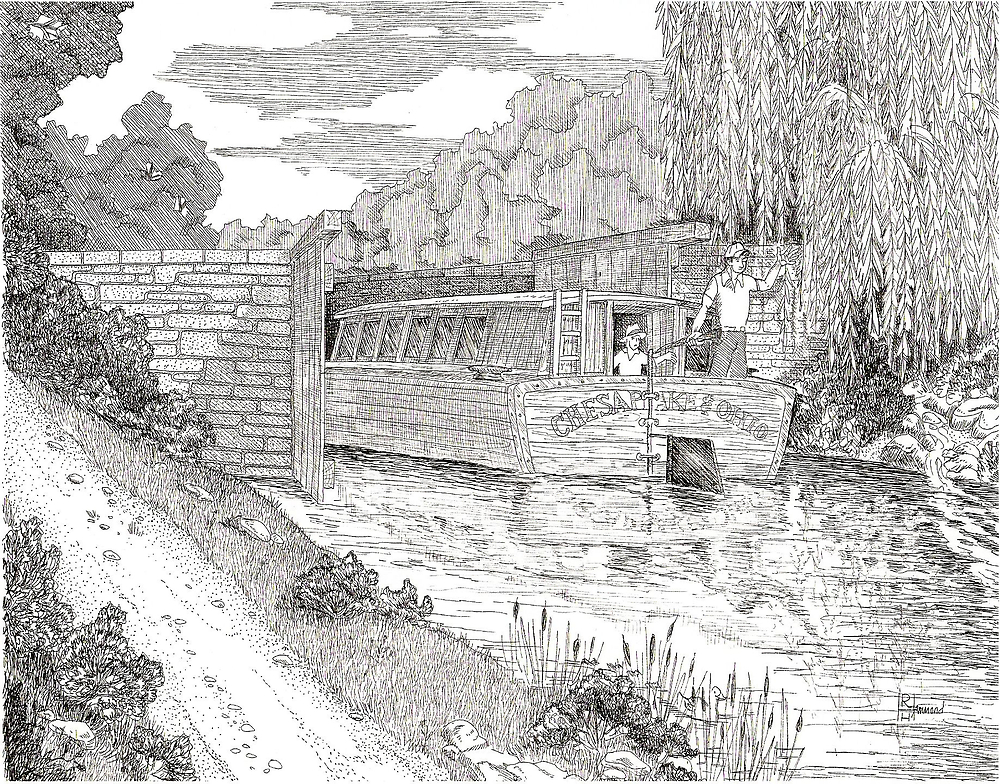C&O Canal Boat by BobHenry