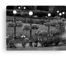 Garden With A Hint Of Lamp Post ~ Part Two Canvas Print