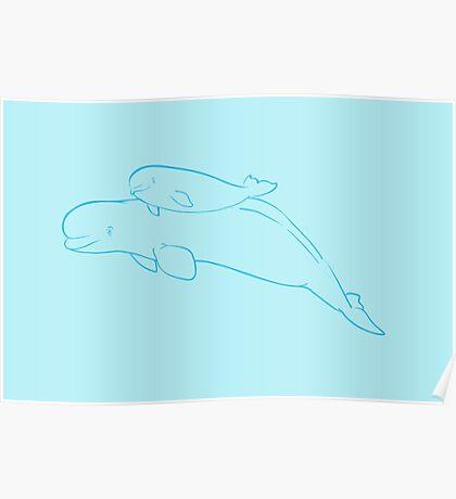 Mother & Baby: Beluga Poster