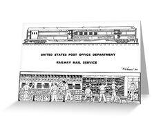Railway Postal Car Greeting Card