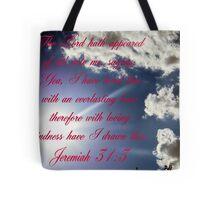 Jeremiah 31:3 Tote Bag