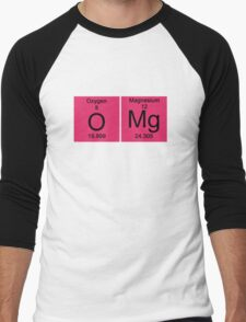 "Funny Periodic table ""OMG"" Oh My God Men's Baseball ¾ T-Shirt"