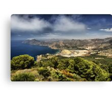Portman Bay, Costa Calida, Spain Canvas Print