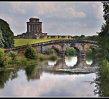 New river bridge and Mausoleum at Castle Howard by Shaun Whiteman