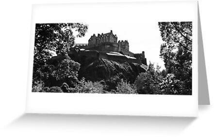 Edinburgh Castle B&W by Martina Fagan