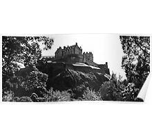 Edinburgh Castle B&W Poster